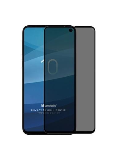 Microsonic Samsung Galaxy S10e Privacy 5D Gizlilik Filtreli Cam Ekran Koruyucu Siyah Siyah